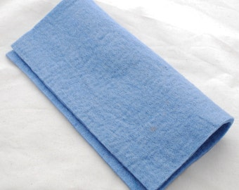 """100% Wool Felt Fabric - Approx 3mm - 5mm Thick - 30cm / 12"""" Square Sheet - French Blue"""