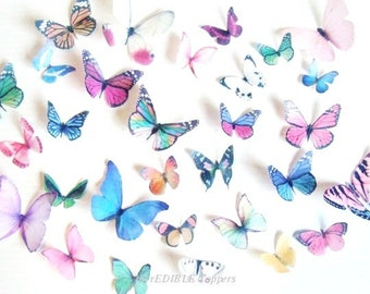 Wedding Cake Topper and Decorations - Edible Butterflies for Cakes -  Assorted Edible Cake Decorations -  Butterfly Decoartions for Cupcakes