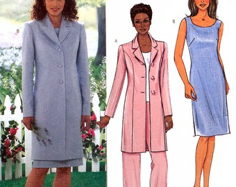 Butterick B4139 Sewing Pattern for Misses' Jacket, Top, Dress and Pants - Uncut - Size 14, 16, 18