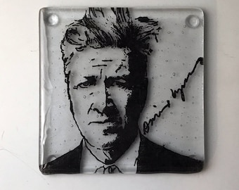 David Lynch Fused Glass Coaster, Director Coasters, Icon Coasters