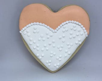 Bridal Gown Heart Cookie