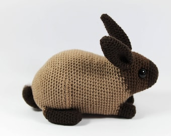 Sable rabbit: one-of-a-kind crocheted toy