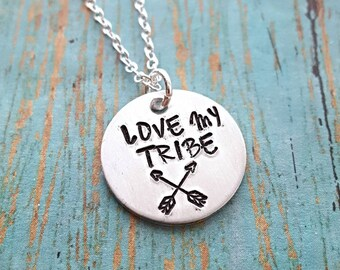 Love My Tribe Necklace - Mother - Mom - Tribal Necklace - Tribe Jewelry - Love Necklace -  - Gift for Mom - Arrows - Mother's Day - Mommy