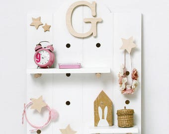 "PEG Board Door-objects wall-furniture children's bedroom line ""ALPHABET BABY ROOM"""
