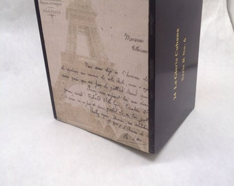 UPcycled Eiffel Tower Hand Decorated Cigar Box