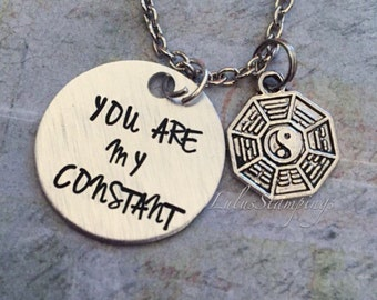 You Are My Constant Lost Tv Show Inspired Necklace - Fandom Jewelry - Fandom Necklace - Dharma Inspired Jewelry