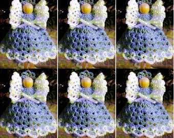 Crochet Christmas ANGEL Ornament Pattern Crochet Ornament Pattern Crochet Clothespin ANGEL Pattern Crochet Baptism Favor Pattern