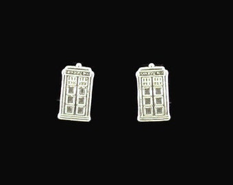 Tardis Earrings in gold made to order
