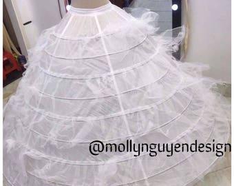 9 Hoop pettitcoat - Crinoline - hoop skirt Bridal