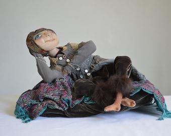 An Afternoon dream. Handmade Art Doll. OOAK. Home Decoration Doll.