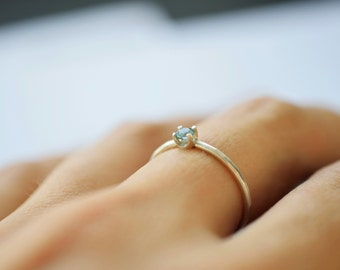 Little princess ring / Birthstone on a Sterling Silver band  / Ring with a stone / Choose a stone