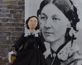 Florence Nightingale Nurse Doll Miniature Civil War Historical Character