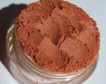 Bright Orange Vegan Mineral Eyeshadow | Loose Pigments | Cruelty-Free | Pink Shimmers | Mineral Eye Shadow -Fuzzy Navel
