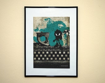 Sonic the Hedgehog Modern Art Print. Minimalist Video Game Poster.