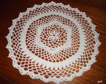 Crocheted White Doily (p19)