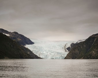 Alaska Glaciers, Kenai Fjord Alaska, Faded Fine Art Photography, Seascape Photography, Alaska Landscape,  Still There