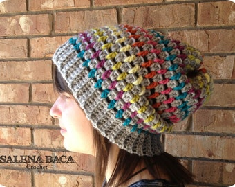 PDF Crochet Pattern - Natalie Super Slouchy Hat  (1-2y, 2-5y, 5-8y, Young Adult, Adult) modern teen woman men oversized