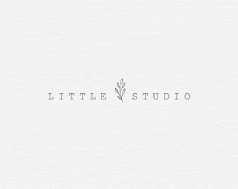 Premade Logo, Feminine logo ,  Logo Design, Brand Design, Business Logo, photography logo, boutique logo, hand drawn logo, flower logo