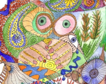 Abundance, original watercolour painting by melanie j cook,