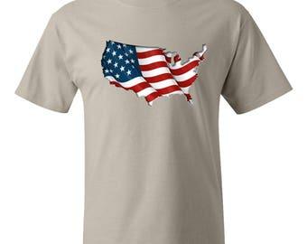 USA printed flag shirt