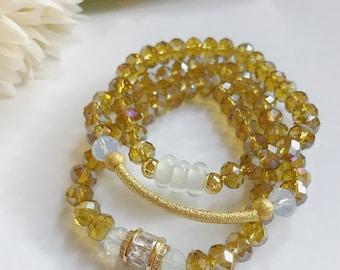 CHLOE- 3 piece bracelet stack set
