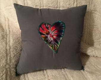 Tye-dye Heart Pillow