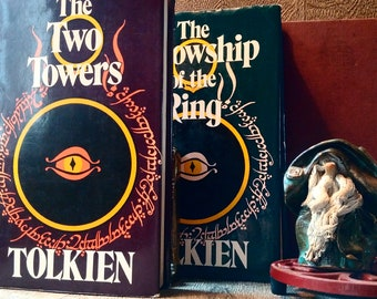 LORD Of The RINGS Hardback Trilogy By J.R.R. TOLKIEN // Vintage Set of Scarce Tolkien Novels // Perfect Gift For Lord Of The Rings Lover