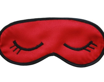 Sleeping mask Eyelashes Women Silk Crep Satine Cotton Eye Sleep mask Modern Handmade Bed Care Gift For Girls Boys Girlfriend Friend Kids