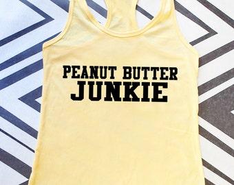 Gym Tank Top - Peanut Butter Junkie Racerback Tank