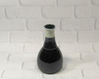 Ceramic Bud Vase - Bottle Vase - Pottery Bottle - Sake Bottle - Flower Vase - Black and White Vase - Modern Decor - Contemporary Decor