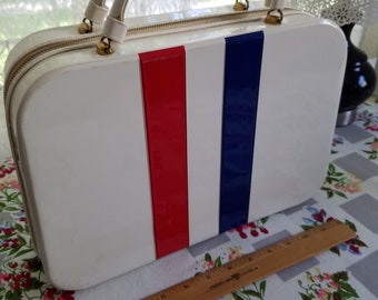 Red White and Blue Handbag Case Suitcase
