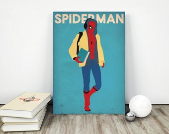Spiderman Poster, Spiderman, Spiderman Print, Spiderman Art, SuperHero Poster, Superhero Art,  Superhero Print, Spiderman Decor, Marvel.