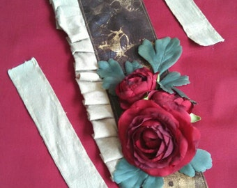 Time Stamp Fascinator: steampunk, Lolita, silk
