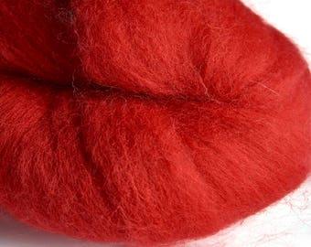 Merino Scarlet Wool Roving 100 grams