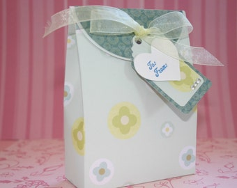 Gift Box Set - FREE Shipping Birthday Party or Wedding Gift Wrap or Favor Box with Tag, Holds Gift Card, Jewelry, by handmadewithlove13