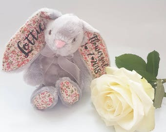 Personalised rabbit, will you be our pageboy? pageboy gift, ring bearer gift, personalised wedding gift, wedding keepsake, wedding favour