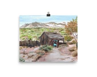 Goldfield Arizona Fine Art Enhanced Matte Paper Poster