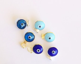 Blue Evil Eye Glass Beads • Protection Jewelry • Good Luck Charm • Evil eye jewelry •  Evil eye pendants