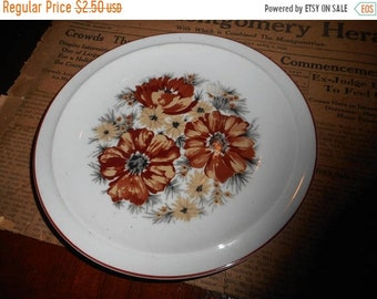 Vintage  Mountain Wood Royal Domino Collection Japan Genuine Porcelain China. Fine China Burnt orange & chartreuse florals