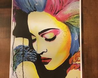 8x10 Print of Original Madonna Painting