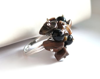 SALE - Beaded Cluster Ring