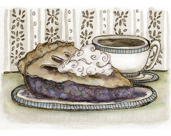 Pie and Coffee Mini Print