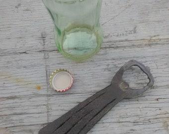 Hand forged blacksmith made bottle opener