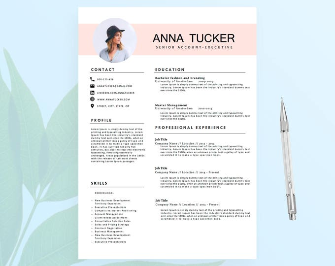Resume cv template resumeboulevard modern resume template cv template professional and creative resume teacher resume word yelopaper Images