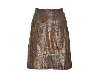 Snakeskin Skirt - Women's Size M