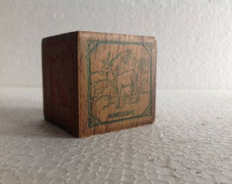 Antique Vintage Wooden Alphabet Blocks 1900s Vintage Toy