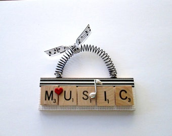 Music Scrabble Tile Ornament