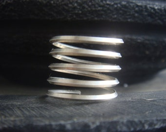 Silver Spiral Ring Silver Stack Ring Made to Order