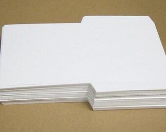 Blank White DIY CD Sleeve - Sets of 10, 25, 50 or 100