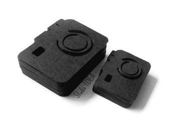 "Black Photo Camera Cut outs, Embellishments- 1.5"" & 2"" Foto Camera Confetti-or Choose Your Colors- Set of 30pcs, 60pcs, 120pcs"